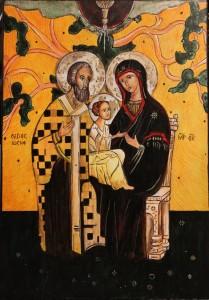 Święta Rodzina Bizantyjska - prezent na rocznicę ślubu