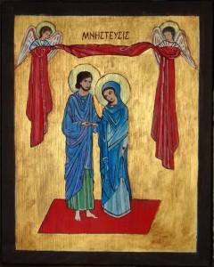 Ikona zaślubin Maryi i Józefa