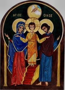 Ikona świętej Rodziny wielbiącej