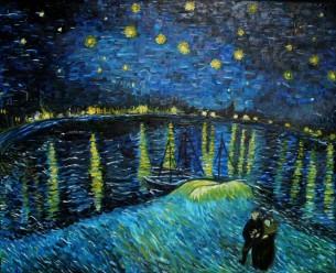 Gwiaździsta Noc - kopia obrazu van Gogh 'a