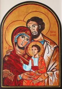 Święta Rodzina Przytulona -  ikona